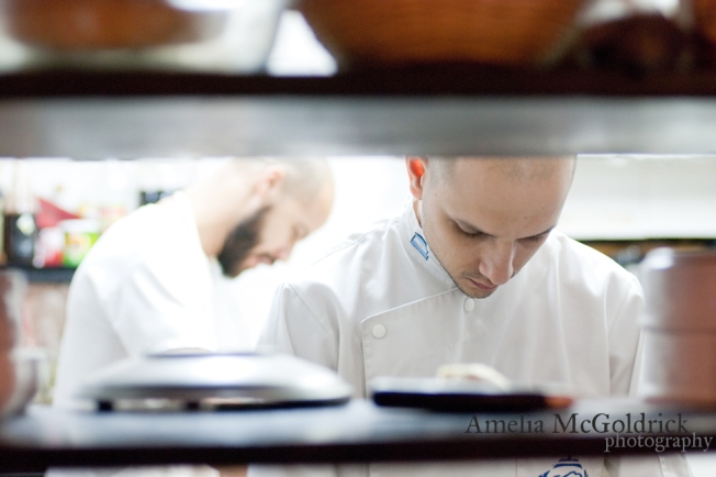 buenos aires argentina POKE chefs in kitchen prepping