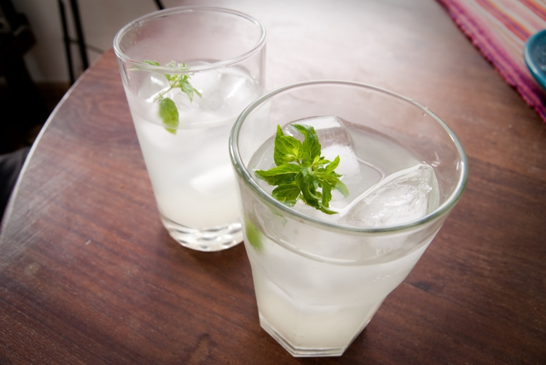 refreshing mint and lemon cocktails